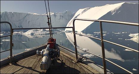 Ilulissat glacier (Image: BBC)