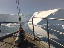Fjord in Greenland