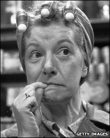 Jean Alexander as Coronation Street's Hilda Ogden