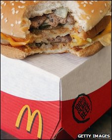 A Big Mac, which is listed as having 492 calories