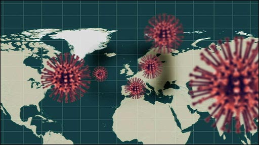 Image of swine flu virus