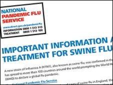 Advertisement for swine flu service