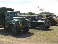 Military vehicles at the War and Peace show in Kent (generic)