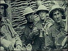 Soldiers in the trenches
