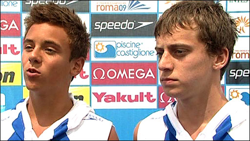 Tom Daley and Max Brick
