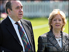 Alex Salmond, pictured with his wife Moira