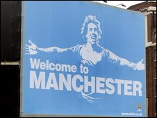 Carlos Tevez billboard poster in Manchester