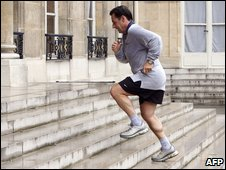 French President Nicolas Sarkozy is a regular runner