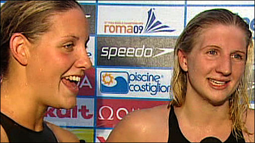  Jo Jackson and Rebecca Adlington