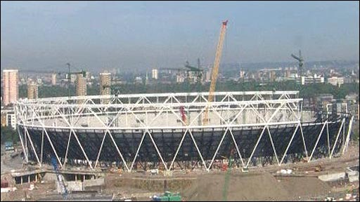 The 2012 Olympic Stadium - a work in progress
