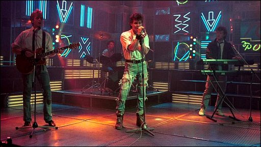 A-ha on Top of The Pops in 1986