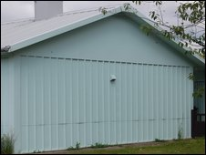 Side of a prefab house