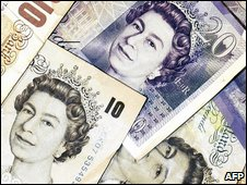 Ten and 20 pound notes