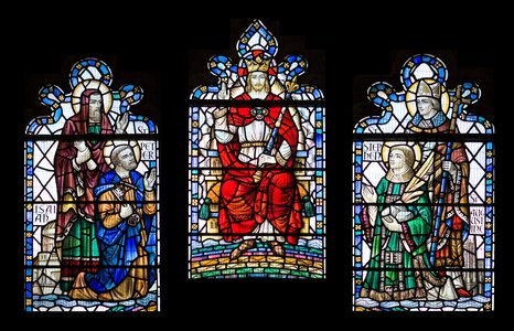 Great East window at St Augustine's Church, Rumney - photo by Lee Ackerman.