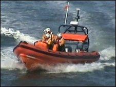Lifeboat involved in the search. Photo: John Tuttiett