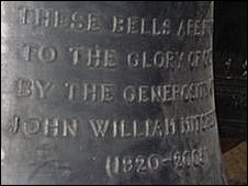 Inscription on a church bell