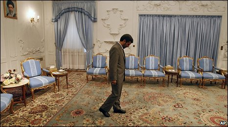 Mahmoud Ahmadinejad at the presidency in Tehran  11.7.09