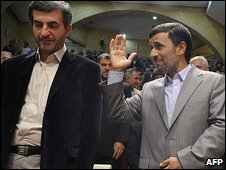 Esfandiar Rahim Mashaie and Mr Ahmadinejad 22.7.09