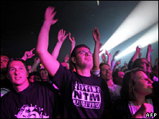 Audience at French rap concert (2008)