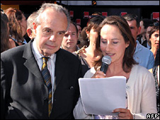 Frederic Mitterrand (left) and Segolene Royal at Les Francofolies (2009)