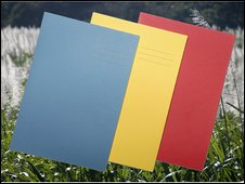 Exercise books made from sugar cane waste