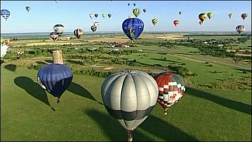 Balloon festival in France