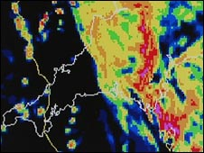 Met Office image of severe weather
