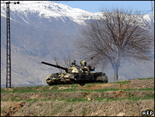 Pakistani army tanks in Bajaur
