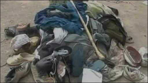Pile of clothes and shoes