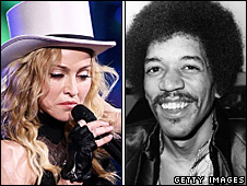 Madonna and Jimi Hendrix
