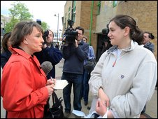 Esther Rantzen visited Luton to gauge public reaction
