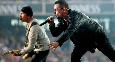 The Edge and Bono at Croke Park