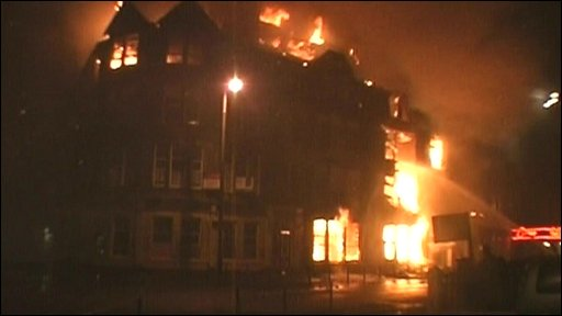 Grand Hotel Fire in Blackpool 2009