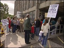 Protest at Cornwall County Hall