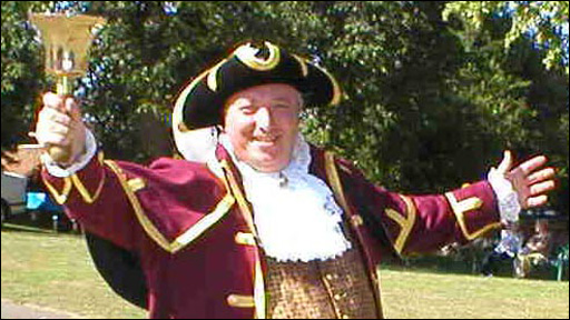 Town crier Martin Hallett