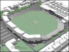 View of the proposed stadium