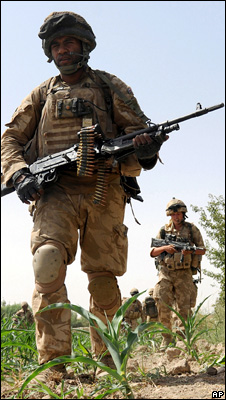 Soldier in helmand