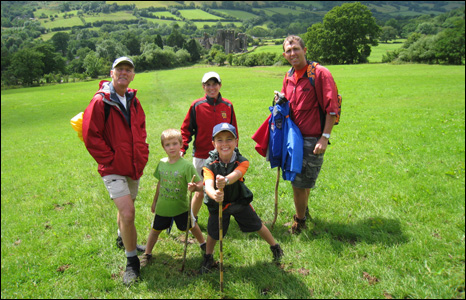 Bassingthwaite and Sage families in the Brecon Beacons (Mark Sage)