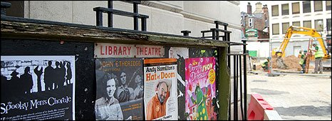 Sheffield Library Theatre noticeboard, 2009