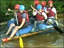 Rafting at Camp Quest