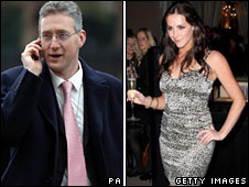 Lembit Opik and Katie Green composite image