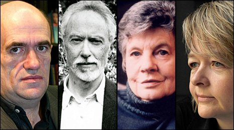 Colm Tobin, JM Coetzee, AS Byatt and Sarah Waters