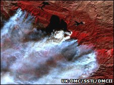 DMC image of California fires (UK-DMC)