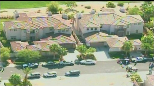 Las Vegas residence and police cars