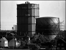 Corby steel works before it closed