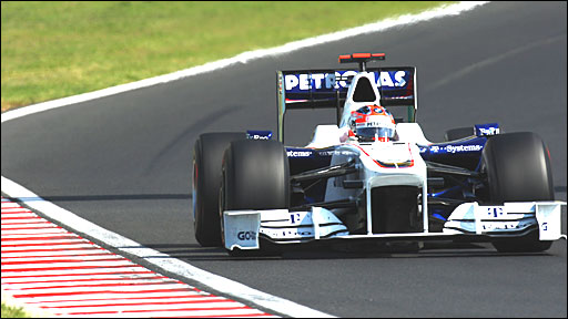 Robert Kubica driving for BMW in Hungary