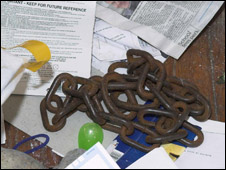 Chain used to wrap Anne Brown's body