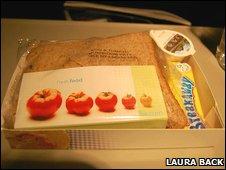 A sandwich on a BA plane