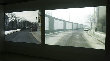 Image shows two films running side by side in black and white