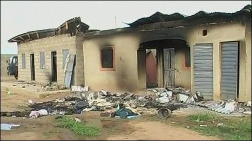 Damaged building in Bauchi